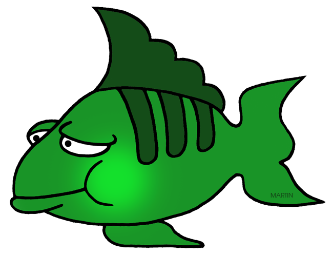 Animal clipart fish image library download Animals Clip Art by Phillip Martin, Green Fish image library download