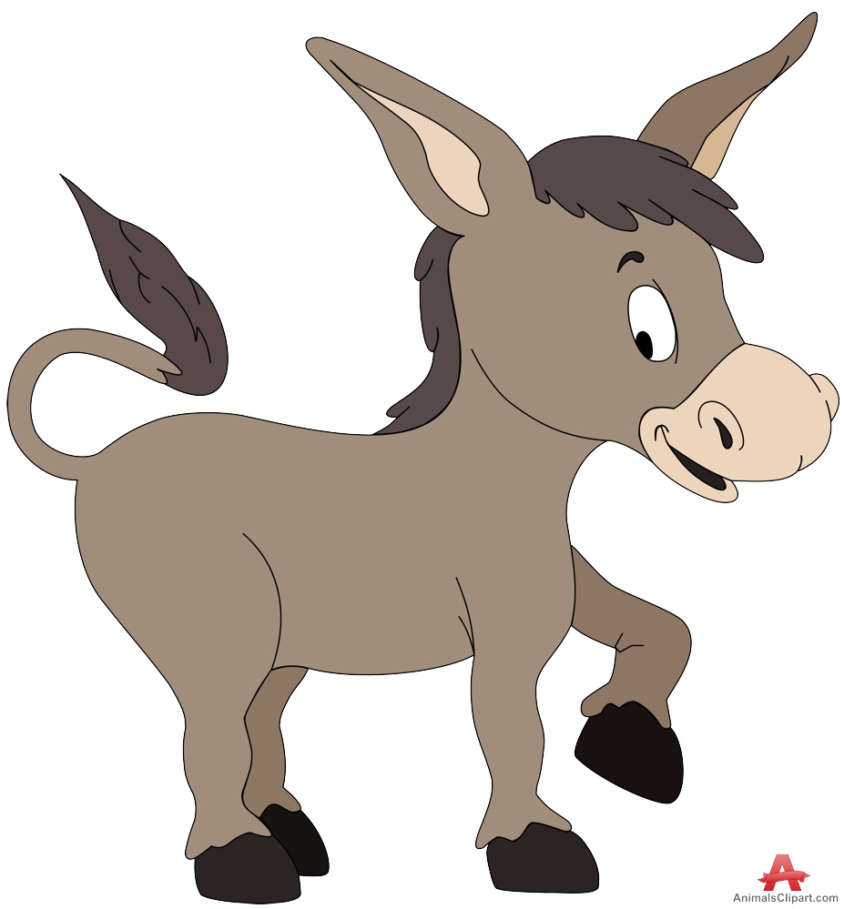 Baby donkey animals clipart