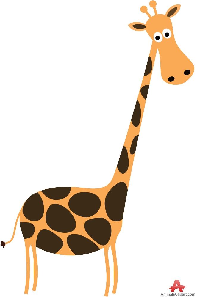 Black and white baby giraffe clipart lomg neck
