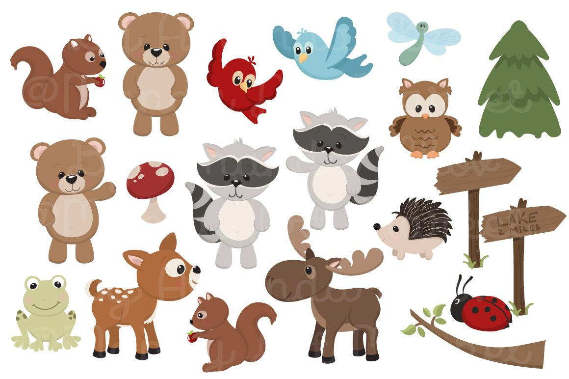 Woodland animal clipart image Pin by Olga Espinosa on Woodland Animals | Woodland animals ... image