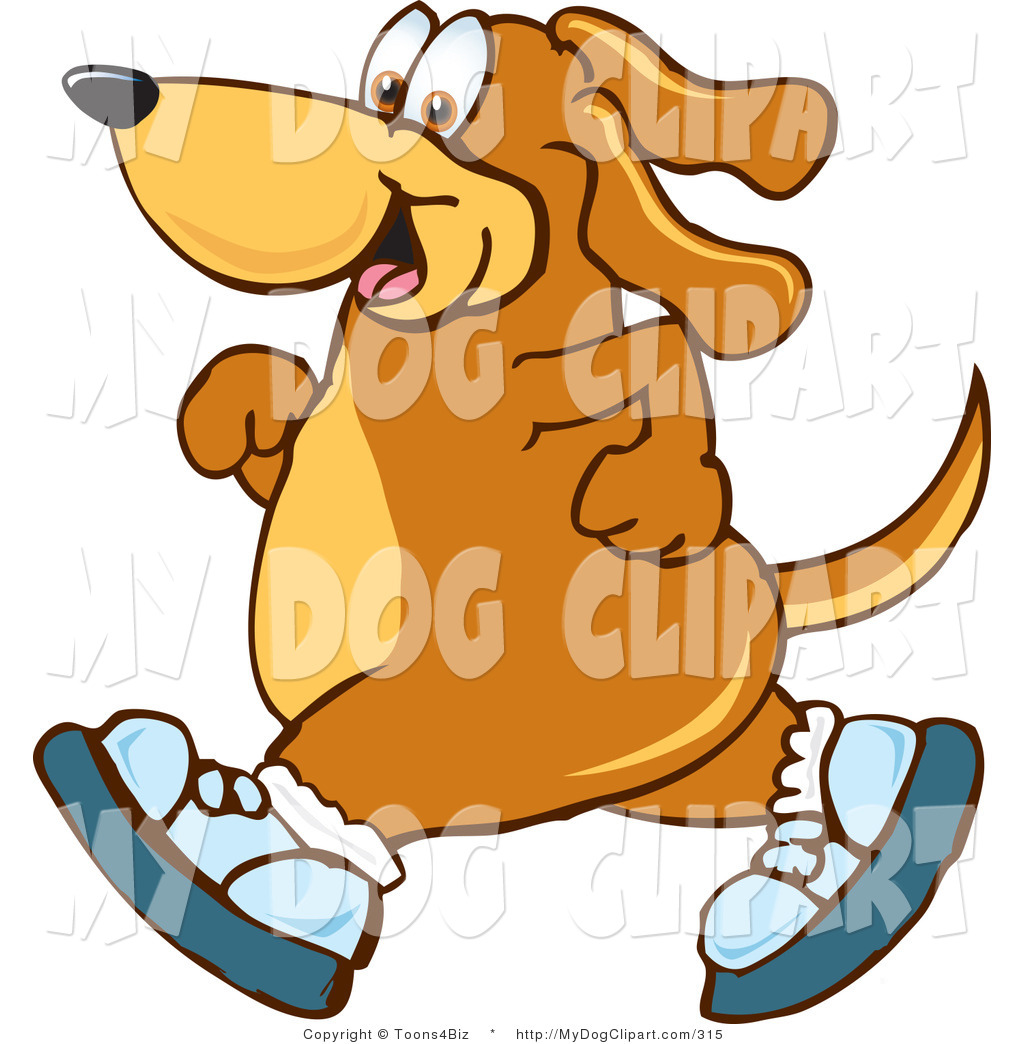 Animal clipart in tennis shoes jpg royalty free library Clip Art of a Sporty Brown Dog Mascot Cartoon Character Wearing ... jpg royalty free library