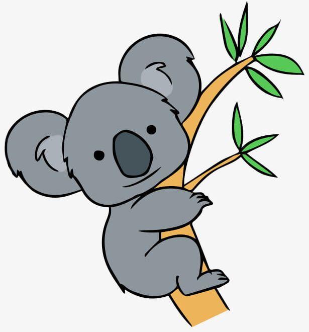 Animal clipart koala image black and white stock Animal Koala Pull Away PNG, Clipart, Animal Clipart, Animal Clipart ... image black and white stock