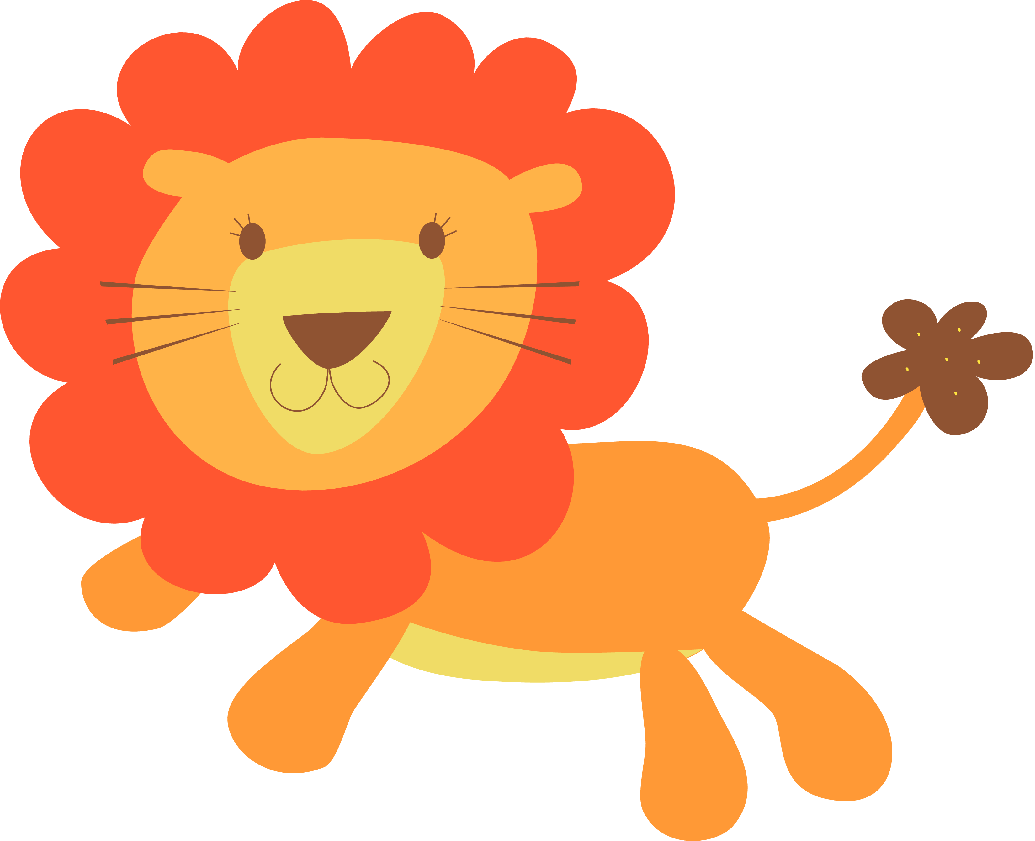 Baby lion face clipart clip art free library Cute Wild Animal Clipart | Free download best Cute Wild Animal ... clip art free library