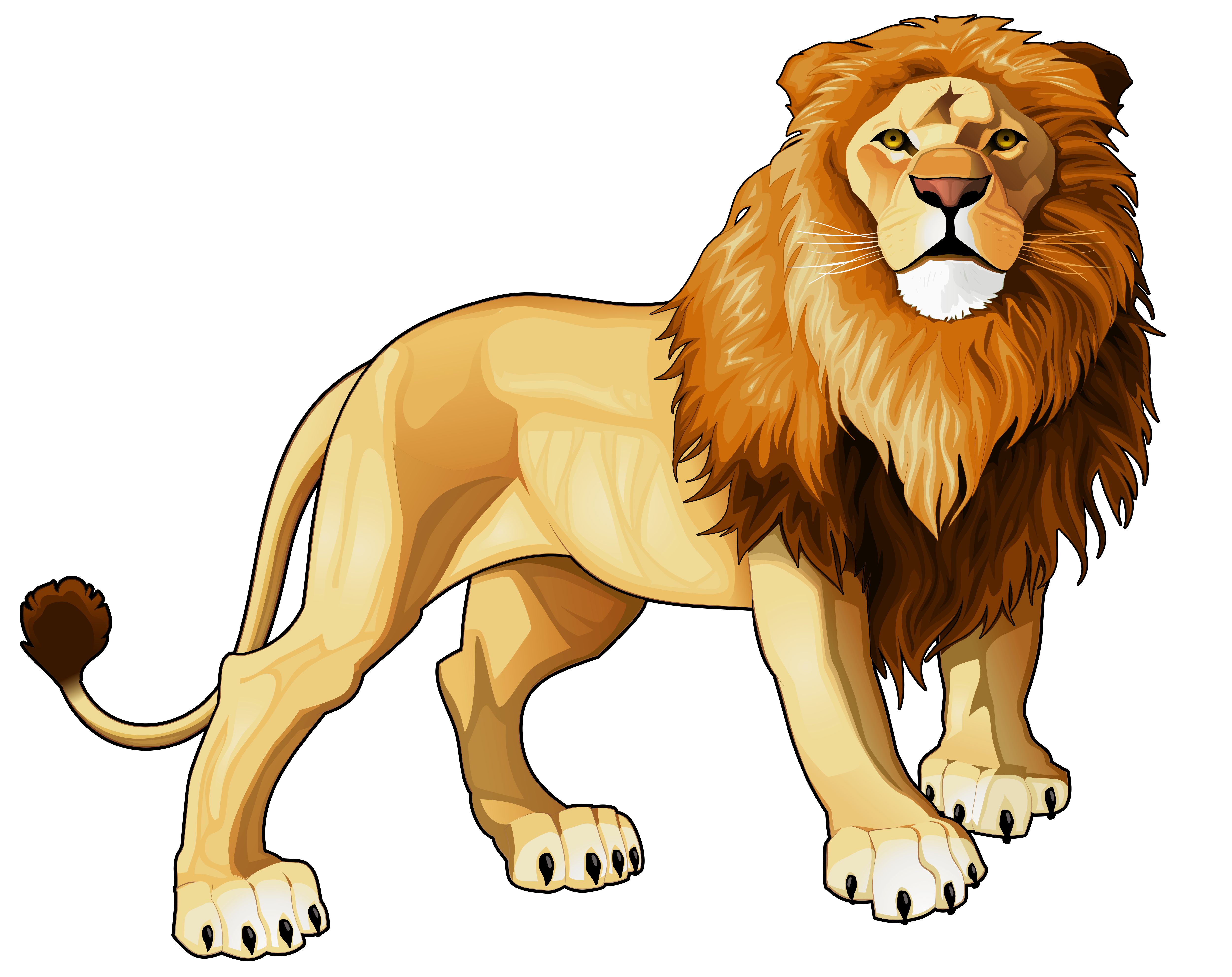 Animated clipart lion