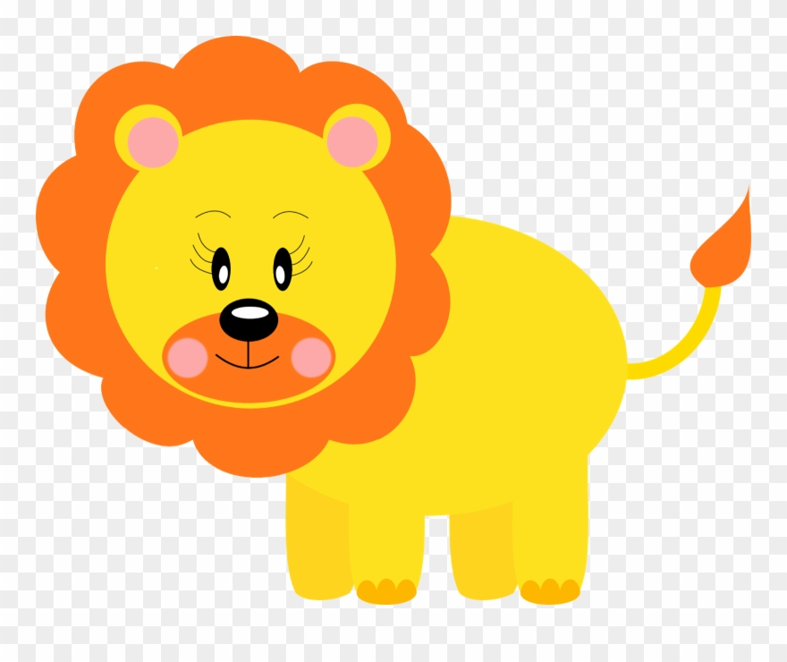 Yellow animals clipart clip art transparent library Png Free Free Printable Baby Jungle Animal Clipart - Leão Safari Png ... clip art transparent library
