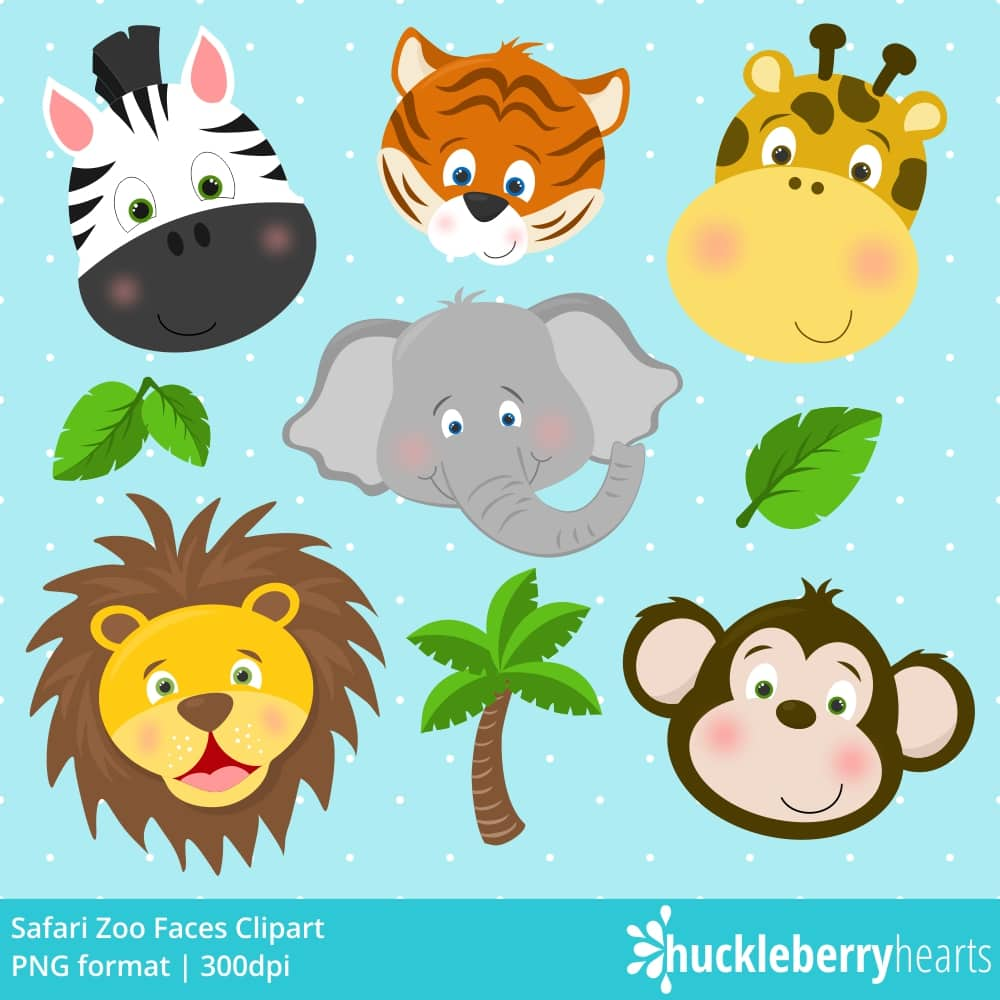 Zoo picture clipart jpg library download Safari Zoo Faces Clipart jpg library download