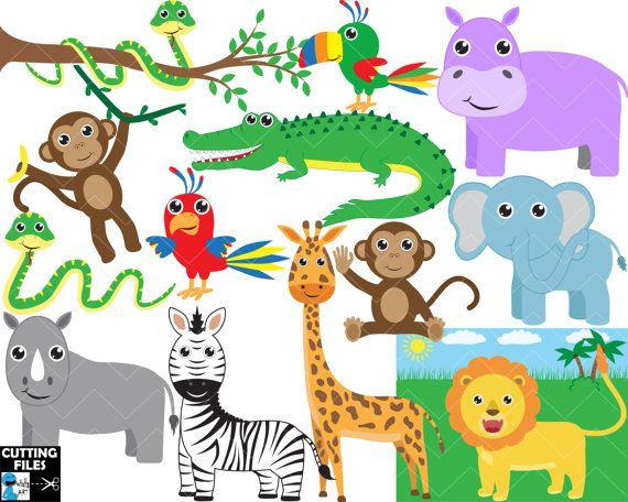 Animal clipart set dxf safari image library stock Safari animals - Clipart / Cutting Files svg png jpg dxf eps digital ... image library stock