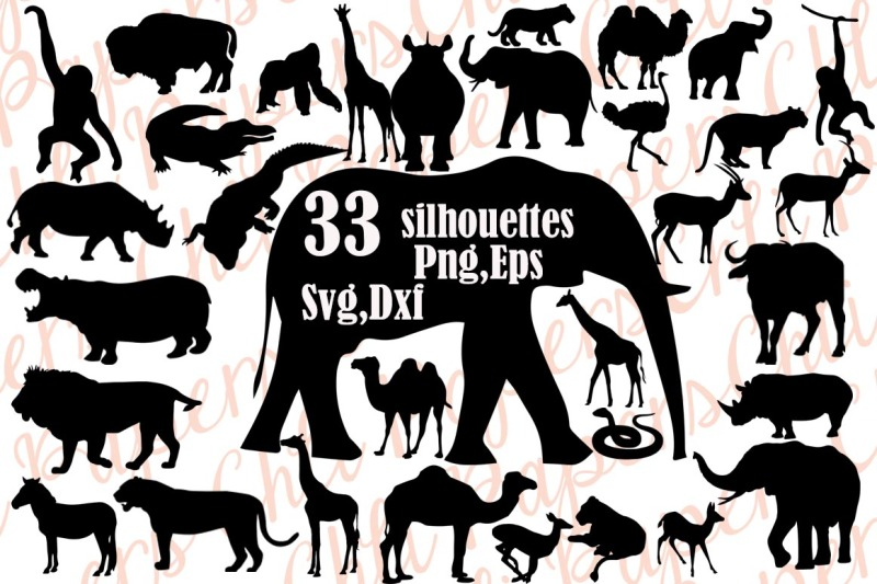 African safari images clipart clip art black and white library Free Safri Animals Silhouette Svg,SAFARI ANIMALS CLIPART,African ... clip art black and white library
