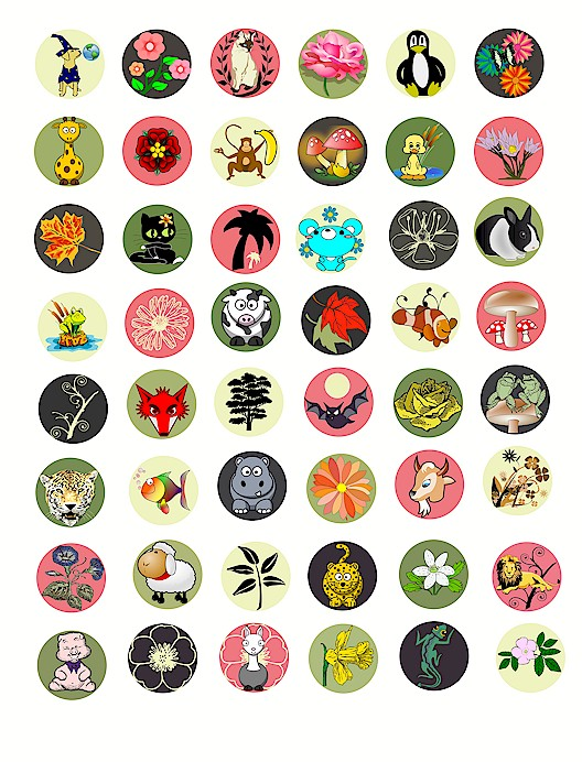 Clipart Digital Download image graphics COLLAGE SHEETS printables ... image library library