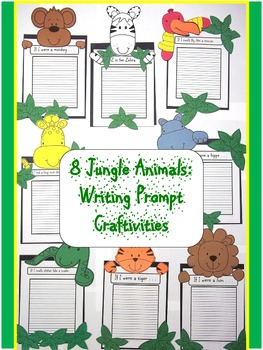 Animal clipart used for writing prompts png free library Zoo Writing Prompts Worksheets & Teaching Resources | TpT png free library