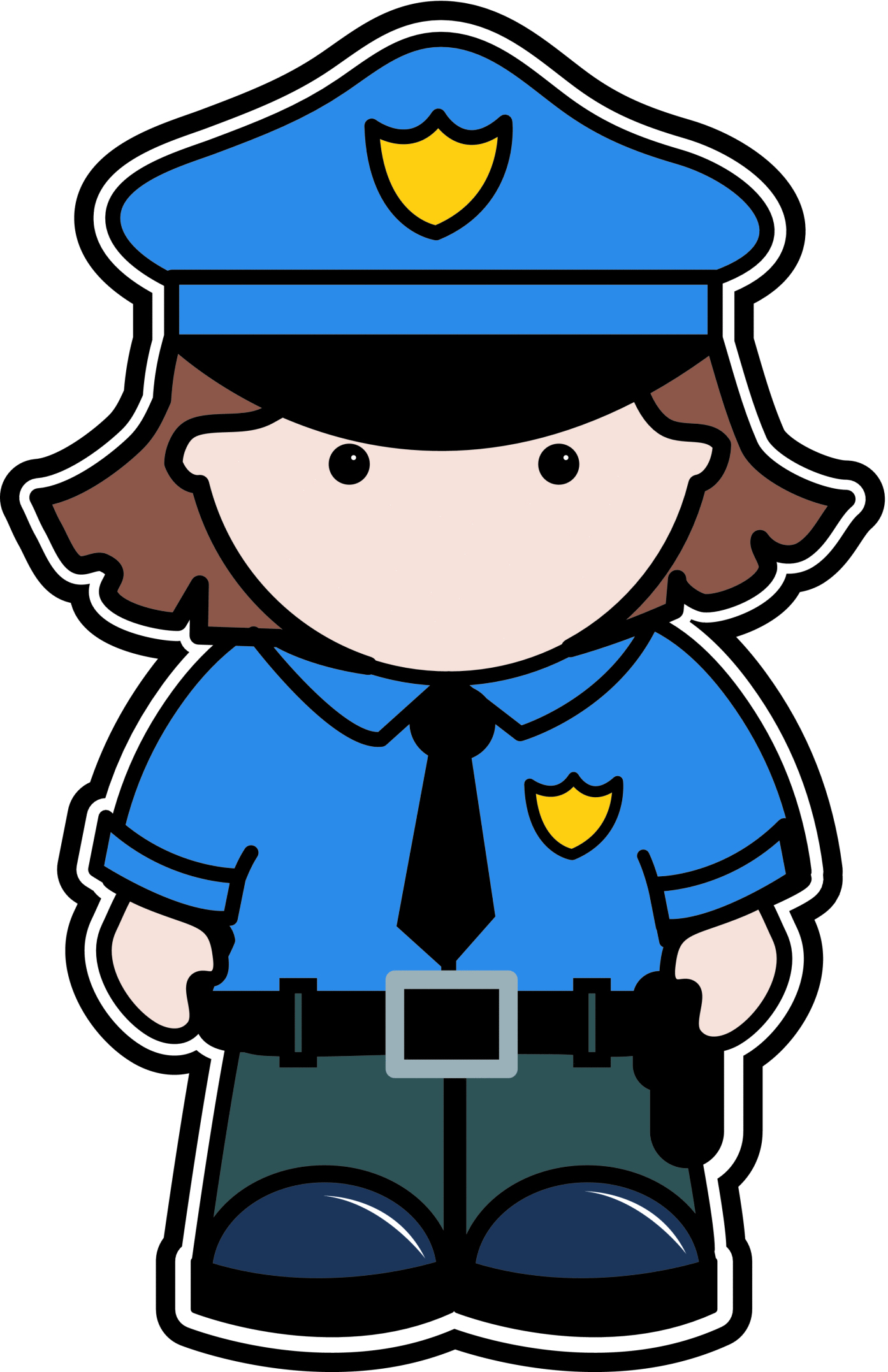 Clipart police stop in name of the law