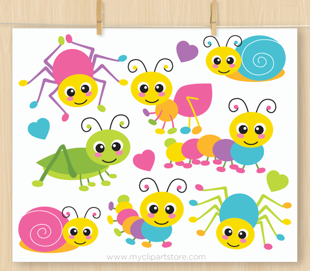 Animal crawling clipart graphic black and white library Crawling Bugs Clipart graphic black and white library
