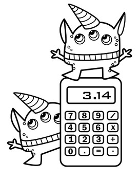 Animal doing math clipart black and white banner free library Math Monsters Clipart banner free library