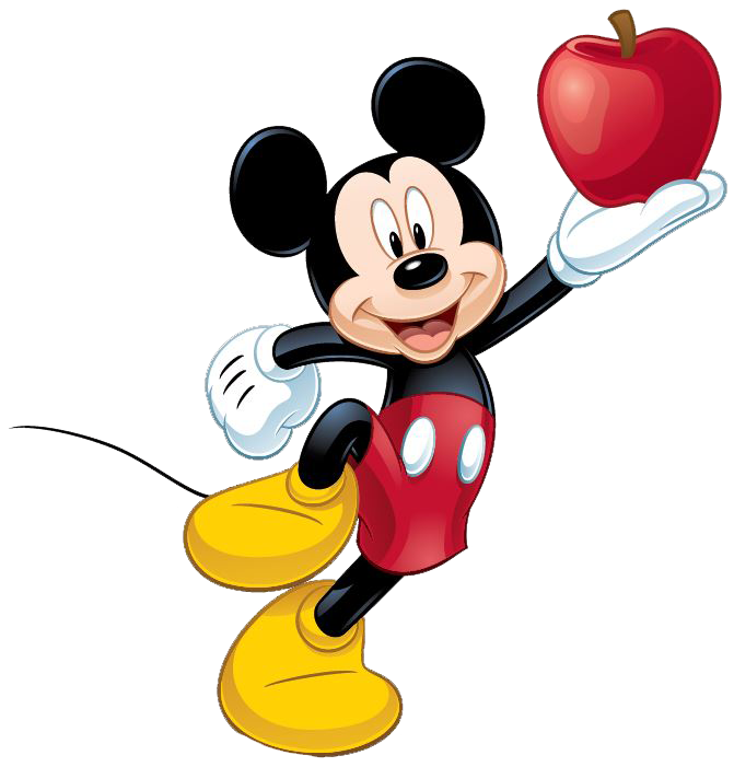 Hand holding an apple clipart black and white download Mickey Mouse Apple On Hand PNG Image - PurePNG | Free transparent ... black and white download