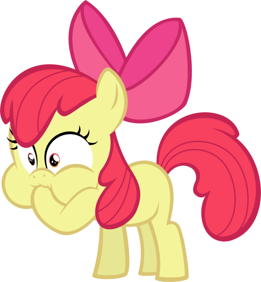 Horse eating a apple clipart clip royalty free Apple Bloom is Disgusted by iamcommando13 on DeviantArt clip royalty free