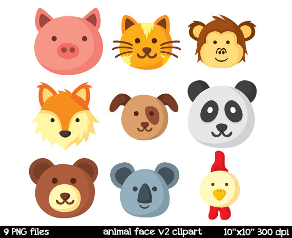 Animal face clipart clipart black and white library Free Animal Faces Cliparts, Download Free Clip Art, Free Clip Art on ... clipart black and white library