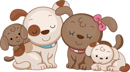 Animal family clipart vector jpg freeuse stock Animal Dog Family | |Free Clipart | Illustration | Vector | Graphics ... jpg freeuse stock