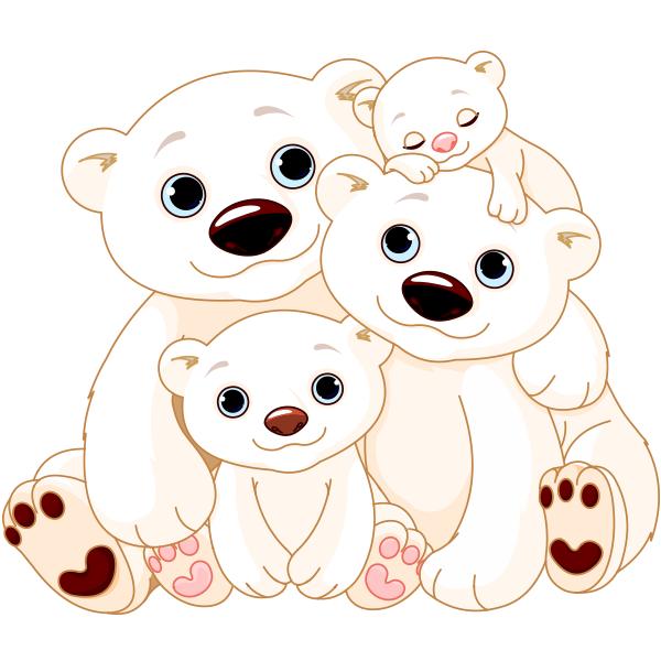 Animal family clipart vector graphic Polar Bear Family | Animal Icons | Bear clipart, Polar bear cartoon ... graphic