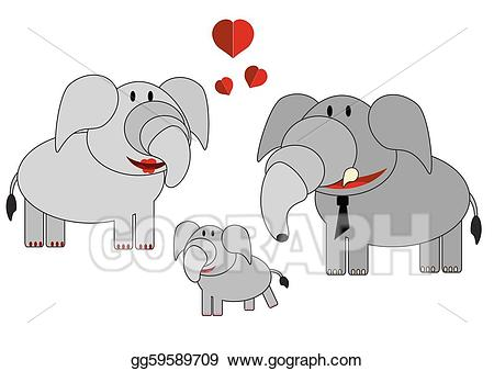 Animal family clipart vector clipart transparent download EPS Vector - Family animals, elephants. Stock Clipart Illustration ... clipart transparent download