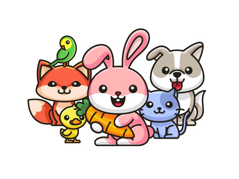 Animal family love clipart vector royalty free Animal Family by Alfrey Davilla | vaneltia on Dribbble vector royalty free