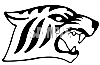Animal fangs clipart banner royalty free Clipart of a Aggressive Tiger Showing Fangs - AnimalClipart.net banner royalty free