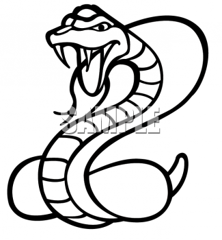 Animal fangs clipart clip art download Black and White Clipart Picture of a Cobra With It\'s Fangs Bared ... clip art download