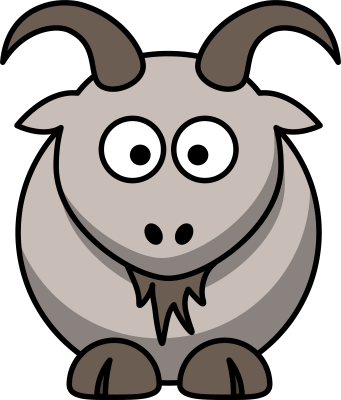 Animal farm book images clipart jpg black and white Free Clipart: Cartoon goat   Animals   cartoon animals   Pinterest ... jpg black and white