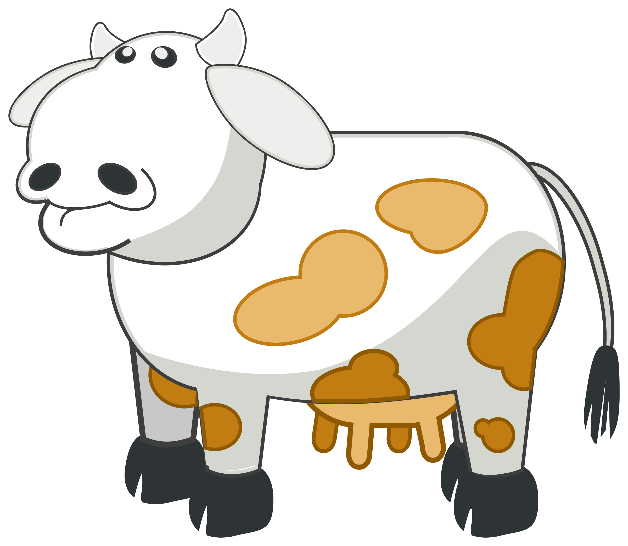 Animal farm book images clipart picture free library Clipart - Colour Cow 3 picture free library