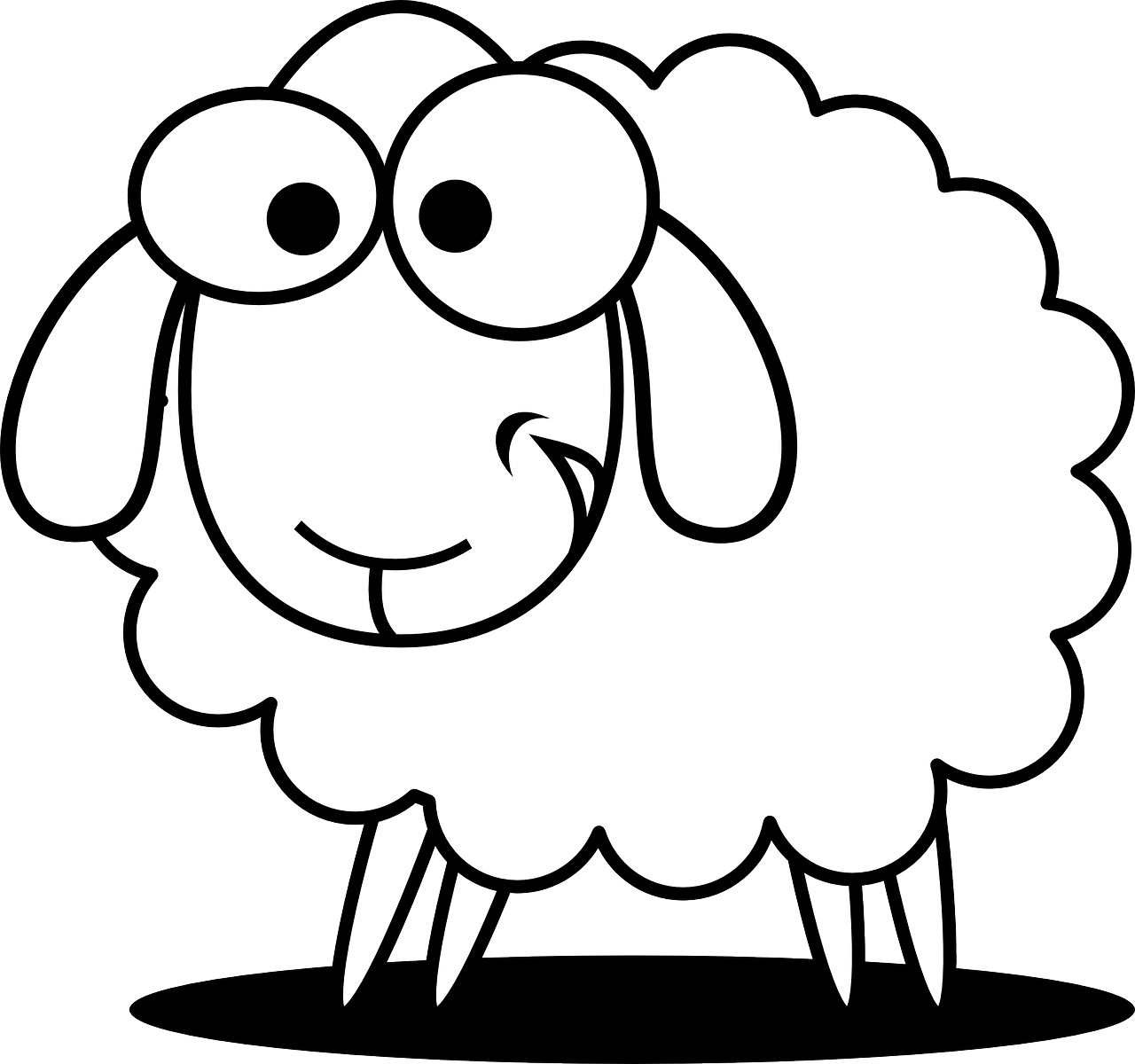 Turkey as a sheep clipart svg black and white Free Image on Pixabay - Sheep, Animal, Farm, Agriculture | Pinterest ... svg black and white
