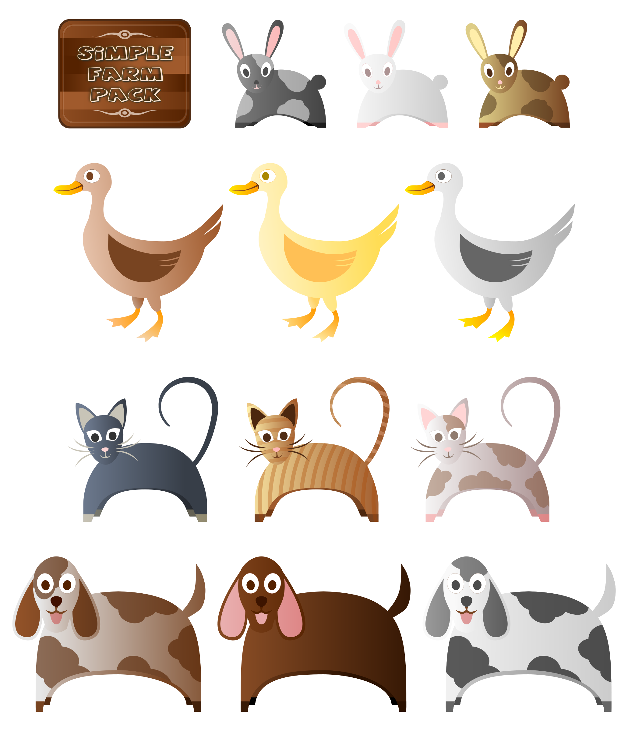 Animal farm book images clipart clip freeuse download Clipart - Simple Farm Animals 2 clip freeuse download