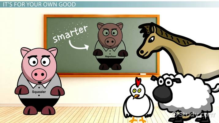 Animal farm clipart mollie vector library Squealer\'s Quotes from Animal Farm - Video & Lesson Transcript ... vector library