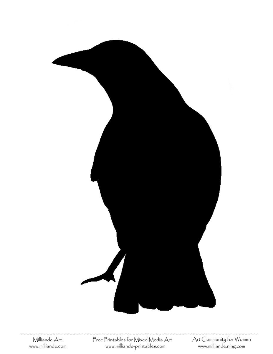 Animal farm raven clipart vector free library Raven Silhouette Bird silhouettes free | hydraulic press images ... vector free library