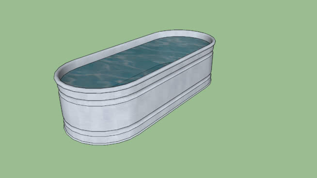 Animal feeding troth clipart library Galvanized Water Trough | 3D Warehouse library