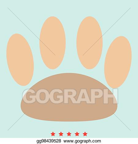 Animal footprint clipart color graphic freeuse library Clip Art Vector - Animal footprint it is color icon. Stock EPS ... graphic freeuse library