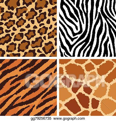 Animal fur clipart picture download Vector Clipart - Animal fur textures. Vector Illustration gg79256735 ... picture download