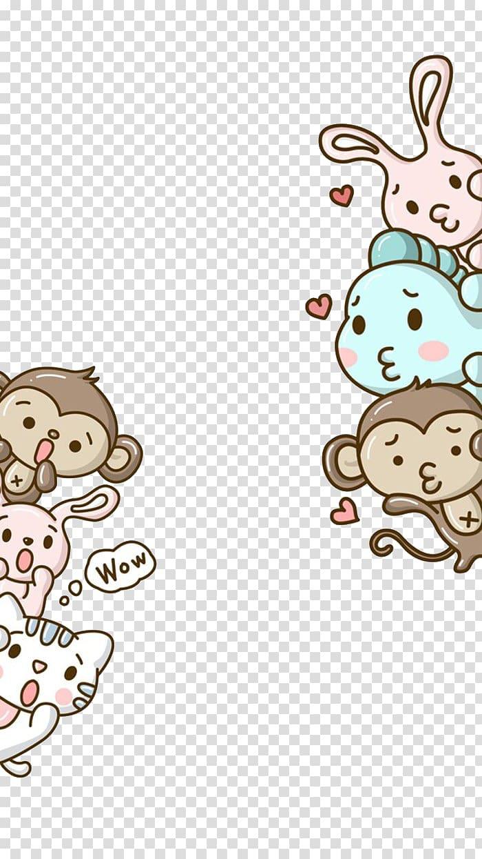 Animal hello clipart jpg library Assorted animal , Monkey Hello Kitty Cartoon Cuteness , Small ... jpg library