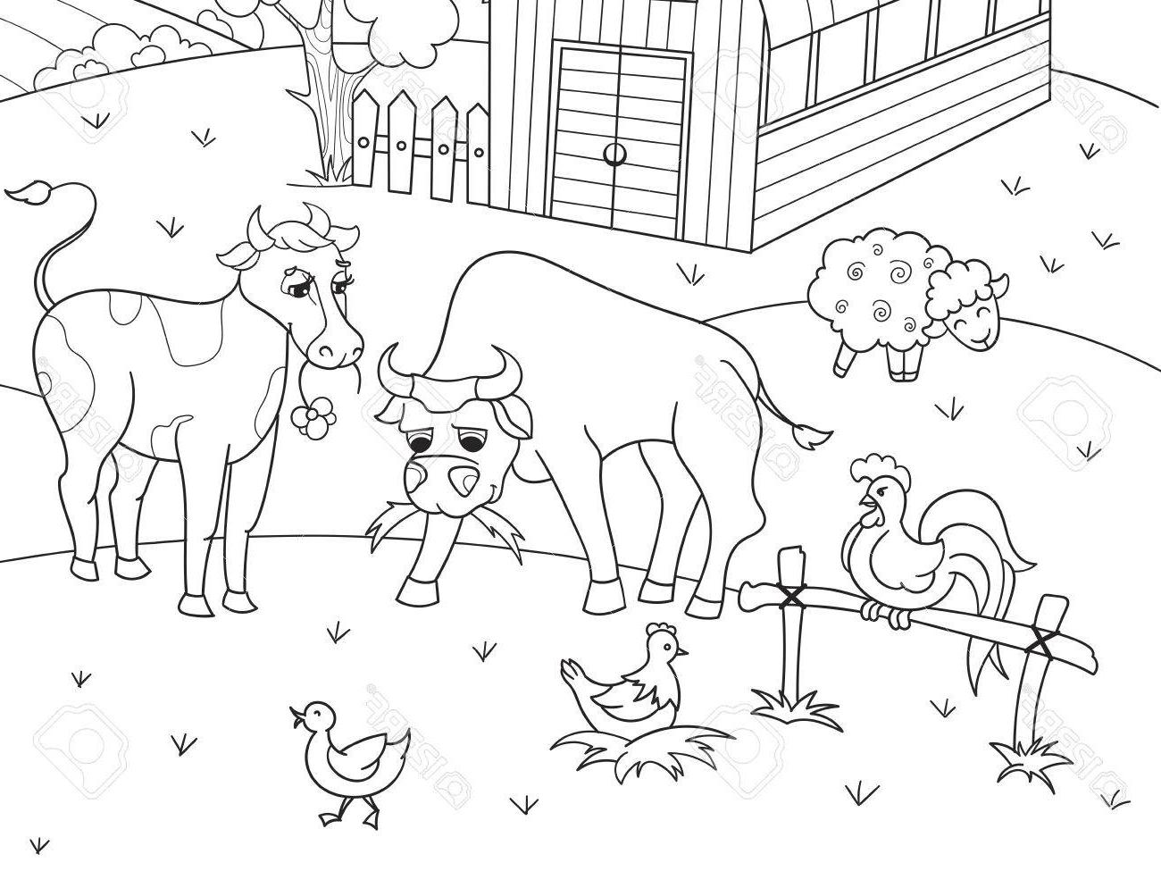 Free clipart black and white farm animals banner library stock Top Farm Animal Printables Vector Photos » Free Vector Art, Images ... banner library stock