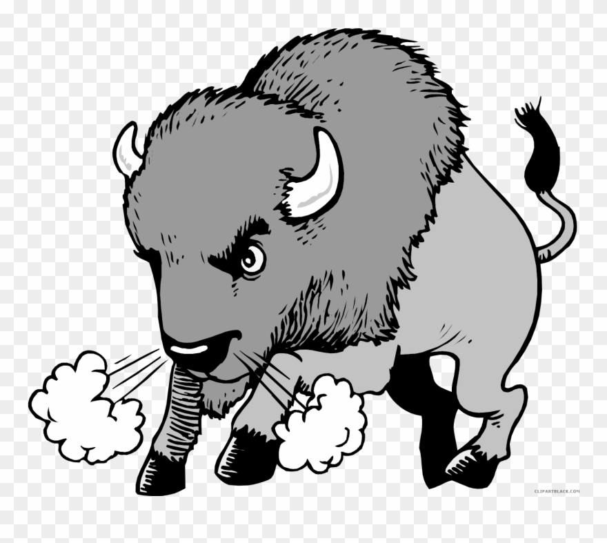 Animal in field black and white clipart clipart transparent download Clip Transparent Clipartblack Com Animal Free - Buffalo And The ... clipart transparent download