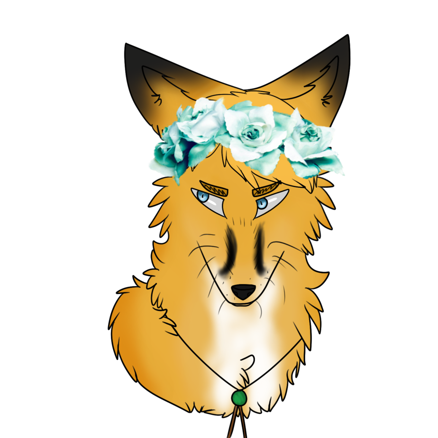 Animal jam flower crown clipart image freeuse Image - Fox erwin with flower crown by captain kirschstein-d8y95zq ... image freeuse