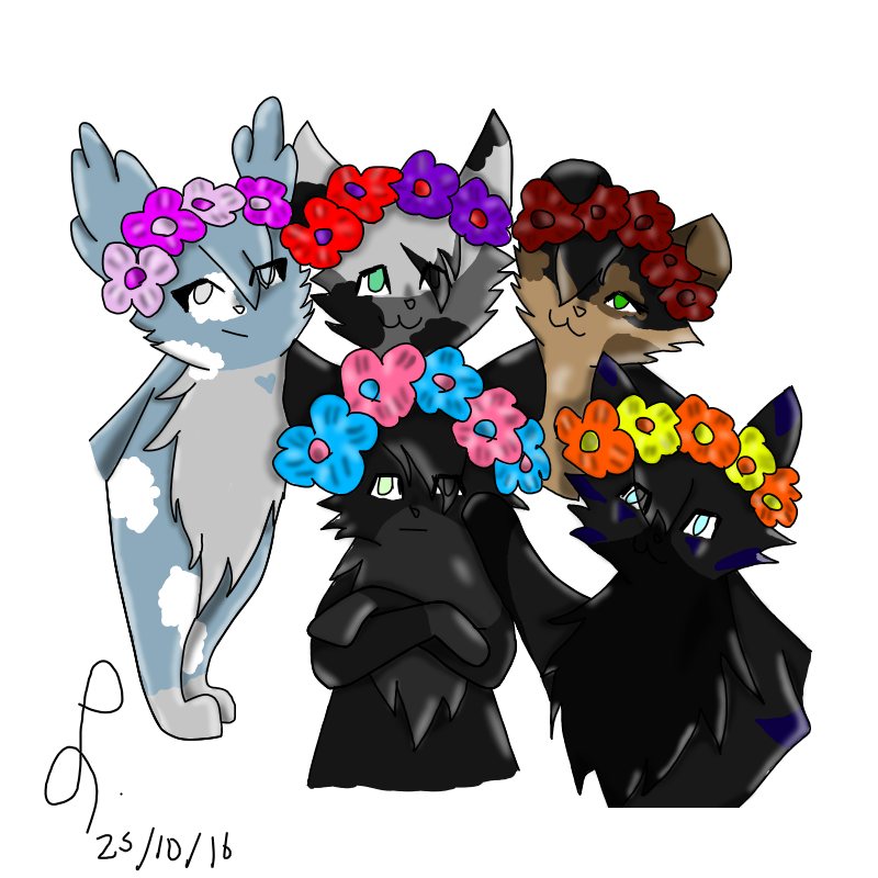 Animal jam flower crown clipart clip black and white library Image - The Flower Crown Squad transparent.png | Animal Jam Clans ... clip black and white library