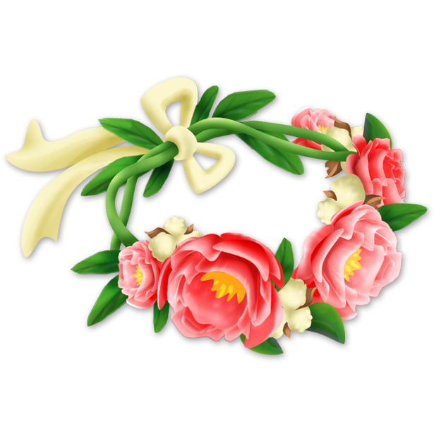 Flower crown clipart transparent. Hat maker hay day