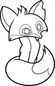 Animal jam fox clipart black and white royalty free library how to draw an animal jam fox step 8   kids   Animal jam drawings ... royalty free library