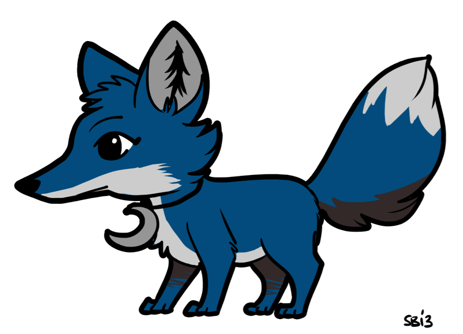 Animal jam fox clipart black and white clipart stock Blue Animal Jam Fox by Badjerma on Clipart library - Clip Art Library clipart stock