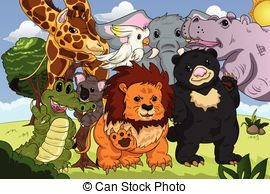 Animal kingdom clipart clipart library download Animal kingdom Clipart Vector Graphics. 303 Animal kingdom EPS ... clipart library download