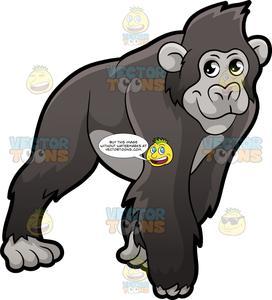 Animal kingdom realistic clipart photo freeuse stock A Gorilla On All Fours freeuse stock
