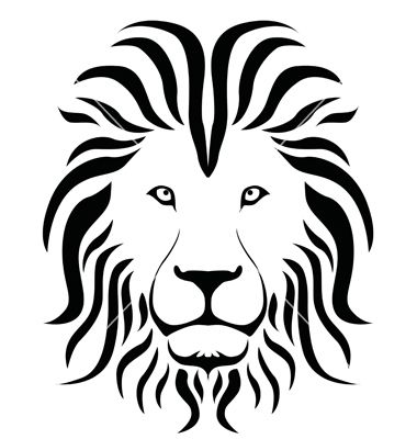 Lion clipart easy laying down black and white