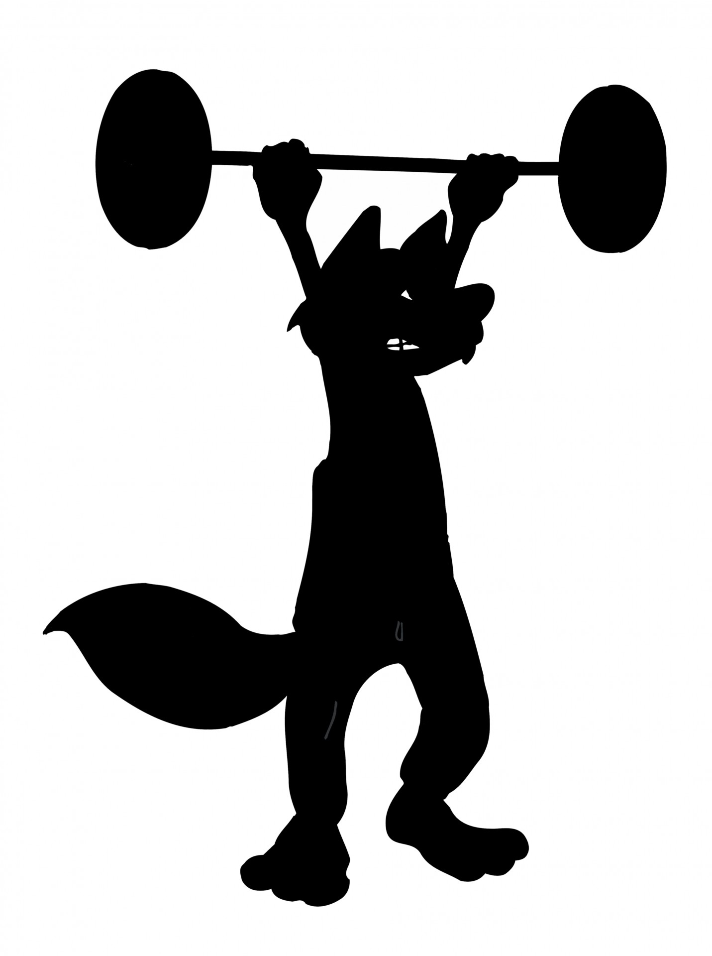 Animal lifting weight clipart black and white png royalty free stock Cartoon,animal,fox,weight,lifting - free photo from needpix.com png royalty free stock