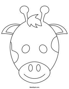 Animal mask black and white clipart svg stock Animal mask clipart black and white » Clipart Portal svg stock