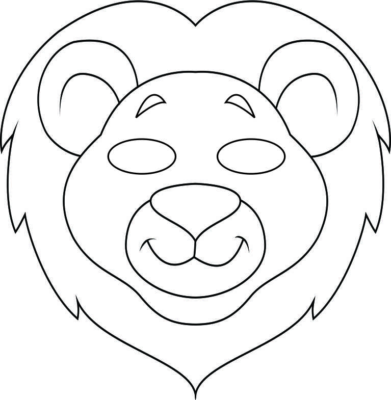 Animal mask black and white clipart clip download Lion Mask Clipart Black And White clip download