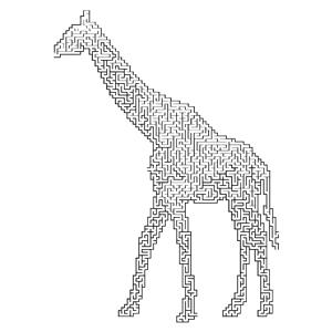 Animal maze clipart free download Giraffe Landscape Silhouette Minus Landscape Maze clipart, cliparts ... free download